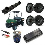 "Bush Hog Trail Hunter Powered Kicker KSC50 & PXA300.4 Amp Quad (4) 5 1/4"" Speaker UTV Po..."
