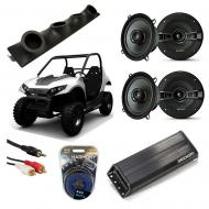"Carter Brothers Matrix 150 Powered Kicker KSC50 & PXA300.4 Amp Quad (4) 5 1/4"" Speaker U..."