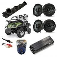 "Cub Cadet Volunteer Powered Kicker KSC50 & PXA300.4 Amp Quad (4) 5 1/4"" Speaker UTV Pod ..."