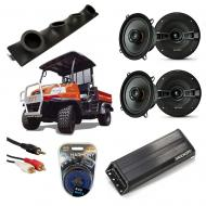 "Kubota RTV Powered Kicker KSC50 & PXA300.4 Amp Quad (4) 5 1/4"" Speaker UTV Pod System"