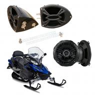 "Yamaha Snowmobile Kicker System DS525 Custom 5 1/4"" Gloss Black Speaker Pods Pair"