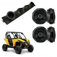 "Can-Am Maverick Kicker System DSC50 Custom Quad (4) 5 1/4"" Speakers Power Sports UTV Pod"