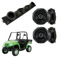 "Artic Cat Prowler Kicker System DSC50 Custom Quad (4) 5 1/4"" Speakers Power Sports UTV Pod"