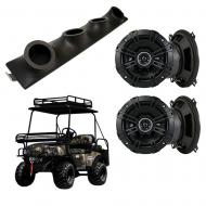 "Bad Boy Buggy Kicker System DSC50 Custom Quad (4) 5 1/4"" Speakers Power Sports UTV Pod"