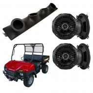 "Bush Hog Trail Hand Kicker System DSC50 Custom Quad (4) 5 1/4"" Speakers Power Sports UTV Pod"