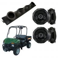 "Bush Hog Trail Hunter Kicker System DSC50 Custom Quad (4) 5 1/4"" Speakers Power Sports UTV Pod"