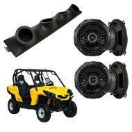 "Can-Am Commander Kicker System DSC50 Custom Quad (4) 5 1/4"" Speakers Power Sports UTV Pod"