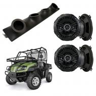 "Cub Cadet Volunteer Kicker System DSC50 Custom Quad (4) 5 1/4"" Speakers Power Sports UTV Pod"