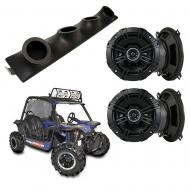 "Heathen V Twin Kicker System DSC50 Custom Quad (4) 5 1/4"" Speakers Power Sports UTV Pod"