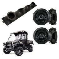 "John Deere Gator Kicker System DSC50 Custom Quad (4) 5 1/4"" Speakers Power Sports UTV Pod"