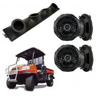 "Kubota RTV Kicker System DSC50 Custom Quad (4) 5 1/4"" Speakers Power Sports UTV Pod"