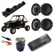 "Redline Riot Powered Kicker KSC50 & PXA300.4 Amp Quad (4) 5 1/4"" Speaker UTV Pod System"