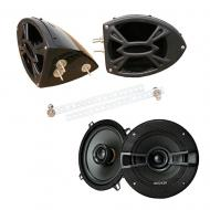 "Kicker System KSC50 Custom Powersport 5 1/4"" Gloss Black Speaker Pods Pair"
