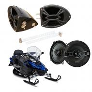 "Yamaha Snowmobile Kicker System KSC50 Custom 5 1/4"" Gloss Black Speaker Pods Pair"
