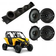 "Can-Am Maverick Kicker System KSC50 Custom Quad (4) 5 1/4"" Speakers Power Sports UTV Pod"