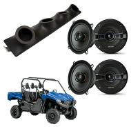 "Yamaha Viking Kicker System KSC50 Custom Quad (4) 5 1/4"" Speakers Power Sports UTV Pod"