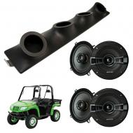 "Artic Cat Prowler Kicker System KSC50 Custom Quad (4) 5 1/4"" Speakers Power Sports UTV Pod"