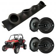 "Polaris RZR Kicker System KSC50 Custom Quad (4) 5 1/4"" Speakers Power Sports UTV Pod"
