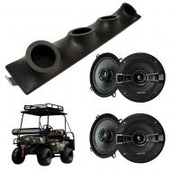 "Bad Boy Buggy Kicker System KSC50 Custom Quad (4) 5 1/4"" Speakers Power Sports UTV Pod"