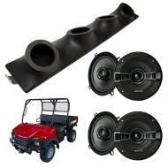 "Bush Hog Trail Hand Kicker System KSC50 Custom Quad (4) 5 1/4"" Speakers Power Sports UTV Pod"