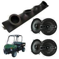 "Bush Hog Trail Hunter Kicker System KSC50 Custom Quad (4) 5 1/4"" Speakers Power Sports UTV Pod"