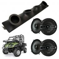 "Cub Cadet Volunteer Kicker System KSC50 Custom Quad (4) 5 1/4"" Speakers Power Sports UTV Pod"