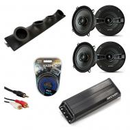 "Kicker KSC50 & PXA300.4 Amp Custom Quad (4) 5 1/4"" Speakers UTV Pod System"