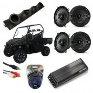 "Intimidator UTV Powered Kicker KSC50 & PXA300.4 Amp Quad (4) 5 1/4"" Speaker UTV Pod System"