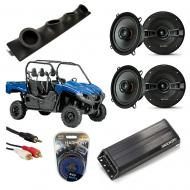 "Yamaha Viking Powered Kicker KSC50 & PXA300.4 Amp Quad (4) 5 1/4"" Speaker UTV Pod System"
