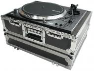 Harmony Cases HC1200E Flight Ready Foam Lined DJ Turntable Case fits Denon 3700