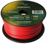 Harmony Audio HA-PW12RED Primary Single Conductor 12 Gauge Red Power or Ground Wire Roll 100 Feet...