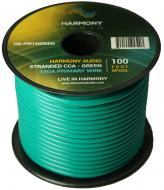 Harmony Audio HA-PW14GREEN Primary Single Conductor 14 Gauge Green Power or Ground Wire Roll 100 ...
