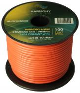 Harmony Audio HA-PW14ORANGE Primary Single Conductor 14 Gauge Orange Power or Ground Wire Roll 10...