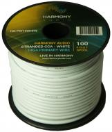 Harmony Audio HA-PW14WHITE Primary Single Conductor 14 Gauge White Power or Ground Wire Roll 100 ...