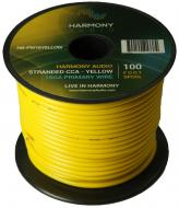Harmony Audio HA-PW16YELLOW Primary Single Conductor 16 Gauge Yellow Power or Ground Wire Roll 10...
