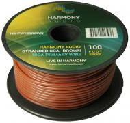 Harmony Audio HA-PW18BROWN Primary Single Conductor 18 Gauge Brown Power or Ground Wire Roll 100 ...