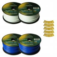Harmony Audio Primary Single Conductor 12 Gauge Power or Ground Wire - 4 Rolls - 400 Feet - White...