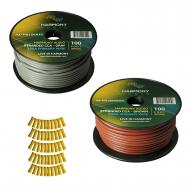 Harmony Audio Primary Single Conductor 12 Gauge Power or Ground Wire - 2 Rolls - 200 Feet - Gray ...