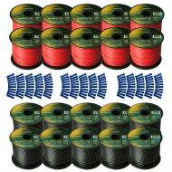 Harmony Audio Primary Single Conductor 14 Gauge Power or Ground Wire - 20 Rolls - 2000 Feet - Red...