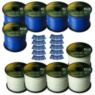 Harmony Audio Primary Single Conductor 14 Gauge Power or Ground Wire - 10 Rolls - 1000 Feet - Whi...