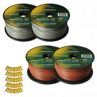 Harmony Audio Primary Single Conductor 12 Gauge Power or Ground Wire - 4 Rolls - 400 Feet - Gray ...