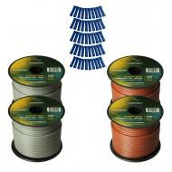 Harmony Audio Primary Single Conductor 14 Gauge Power or Ground Wire - 4 Rolls - 400 Feet - Gray ...