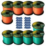 Harmony Audio Primary Single Conductor 14 Gauge Power or Ground Wire - 10 Rolls - 1000 Feet - Gre...