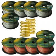Harmony Audio Primary Single Conductor 12 Gauge Power or Ground Wire - 10 Rolls - 1000 Feet - Gra...
