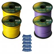 Harmony Audio Primary Single Conductor 14 Gauge Power or Ground Wire - 4 Rolls - 400 Feet - Yello...