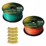Harmony Audio Primary Single Conductor 12 Gauge Power or Ground Wire - 2 Rolls - 200 Feet - Green...