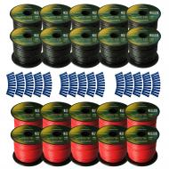Harmony Audio Primary Single Conductor 16 Gauge Power or Ground Wire - 20 Rolls - 2000 Feet - Red...