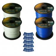 Harmony Audio Primary Single Conductor 16 Gauge Power or Ground Wire - 4 Rolls - 400 Feet - White...
