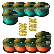 Harmony Audio Primary Single Conductor 12 Gauge Power or Ground Wire - 10 Rolls - 1000 Feet - Gre...