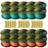 Harmony Audio Primary Single Conductor 12 Gauge Power or Ground Wire - 20 Rolls - 2000 Feet - Gre...